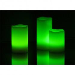Naturvoks LED-lys 12 farver, Sæt med 3 lys.