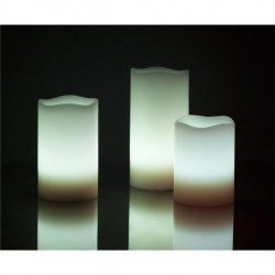 Natural wax LED light 12 colors, Set of 3 lights.