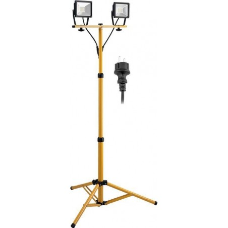 LED work lamp on adjustable stand. 2 x 20W LED