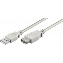 USB Forlængerkabel, 5 M. , USB 2.0 Hi-Speed