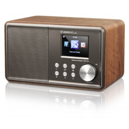 Internet radio DR471, Table radio in wooden cabinet, Compact and powerful sound