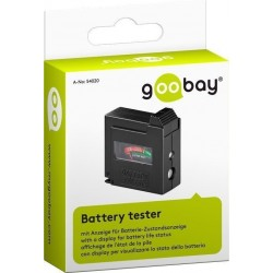 Battery tester, see the condition of your batteries.