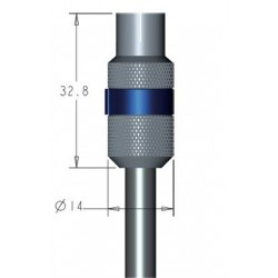 Coax antenna plug female, IEC, to 6.5-8.00 mm. antenna cable, Quick