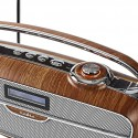Bluetooth FM/DAB/DAB+ digital retro radio
