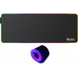 Musemåtte med LED lys - RGB Soft Desk Pad XXXL, Sandberg