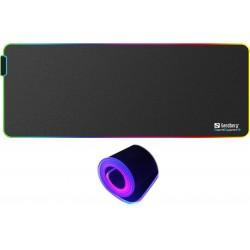 Deskpad with RGB  LED lights - Soft Desk Pad XXXL, Sandberg