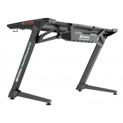 Gamerbord med lys ,LED, Fighter Gaming Desk2, Sort