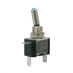 Toggle switch 2pol./2pin ON-OFF 12VDC/25A (blue LED)