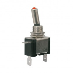 Toggle switch 2pol./2pin ON-OFF 12VDC/25A (red LED)