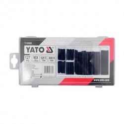 Heat-shrink tubing set. 127 pcs, black, soft