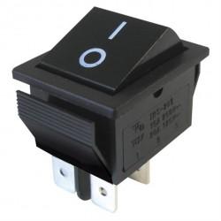 Rocker switch 4pin 2x ON-OFF 250V/15A - Black