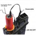 Mini hobby drilling machine 12V DC w. LED lightning
