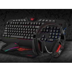 Gaming Pack - gamer keyboard, mouse, headphones and mouse pad 4i1