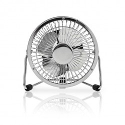 USB Desktop fan - quiet cool breeze - Ø10 cm.
