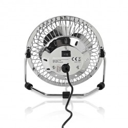 USB Desktop fan - quiet cool breeze - Ø10 cm.