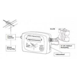 DVB-T signal finder / signalstyrkemåler, til indstilling af VHF/UHF TV antenne.