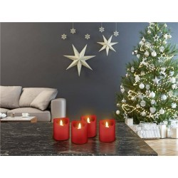 Genuine wax candles with LED. 4 pieces, perfect Christmas light, red