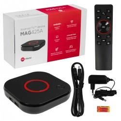 MAG 425A Android TV 8.0 4K HEVC 5G WIFI Bluetooth stemmestyret Chromecast IPTV-afspiller