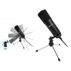 Mikrofon Streamer USB mikrofon på bordstativ, Sandberg
