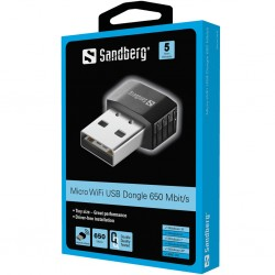 Sandberg Micro Wifi Dongle 650 Mbit/s
