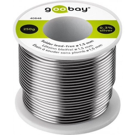 Solder lead-free Ø1.5 mm, 250 g. Roll