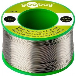 Premium Solder lead-free Ø 0.35 mm, 100 g. 3.8% silver