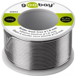 Solder Ø1.0 mm, 100 g. roll. 0.3% Silver, No lead.