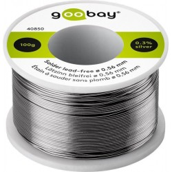 Solder Ø0.56 mm, 100 g. roll. 0.3% Silver, No lead.