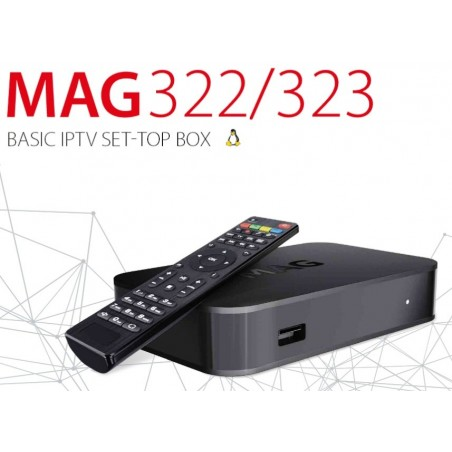 MAG322 Full HD IPTV HEVC H.265 Multimedia Player IPTV SET-TOP BOX
