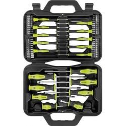 Skruetrækkersæt 58 dele - super Skruetrækkersæt i solid opbevaringsbox