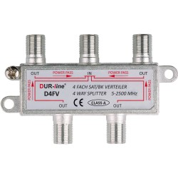 4 way splitter for radio, TV and SAT signals