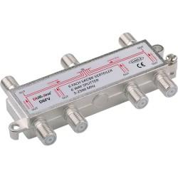 6 vejs splitter 5-2500 MHz,Fordel radio, TV og parabolsignaler. DUR-line D6FV