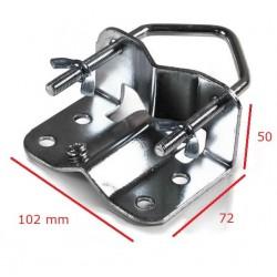 Fastgørelsesbeslag for masterør til antenne,parabol,belysning og kamera.30-60 mm.  Kan anvendes på alle rør med en diamet