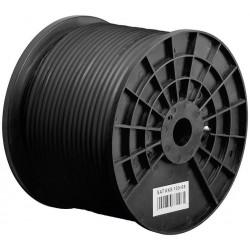 100 dB udendørs antennekabel,Klasse A jordkabel, 2x afskærmning, CCS, 100 m, sort