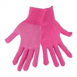 """LADY handske med dotter 7"""" Pink"""