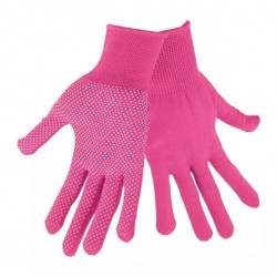 """LADY Pink, Gloves with dots, 7"""""""