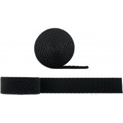 Velcro cable ties, black, organizer wires and cables.