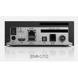 Bagside VU+ Zero 4K UHD digitalmodtager til kabel TV og antenne TV. VU+ Zero 4K Linux UHD 1x DVB-C/T2 tuner. Kabel TV / Antenne