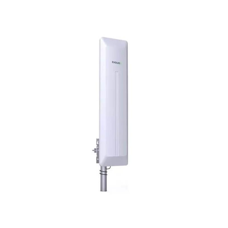 Kraftig DVB-T2 TV antenne udendørs med forstærker 45 dB.Kraftig DVB-T2 TV antenne, aktiv udendørsantenne 45 dB