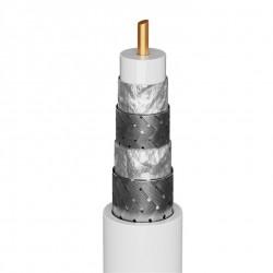 Antennekabel 5 meter (135 dB ), 4x afskærmning, forgyldt, coax han-hun.