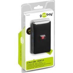 Få flere USB porte - 4 x USB 3.0 HUB med afbryder.