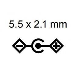 12 Volt power supply 2.25 A, 5.5mm x 2.1mm plug.