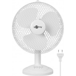 12-inch table fan, white -...