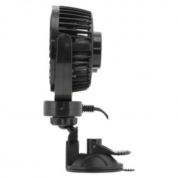 12V double car fan - adjustable fans with a robust stand and suction cup.