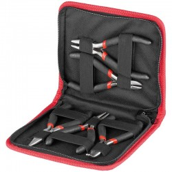 Plier set with insulated grip, for electronic technicians. 5 pcs.
