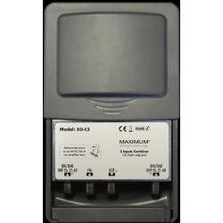 Maximum XO-C3 antennecombiner med 4G (LTE) og NMT stopfilter.