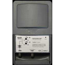 Antenneforstærker til TV og DAB radio. 4G spærrefilter, 1 indgang, justerbar forstærkning