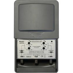Antenneforstærker til TV og DAB. 4G spærrefilter, 2 indgange, justerbar forstærkning