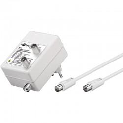TV - Radio antenneforstærker med to udgange - 2 x 10 dB forstærkning - Perfekt til Kabel-TV fordeling.