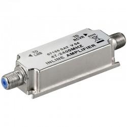 Inline amplifier SAT 47-2300 Mhz.